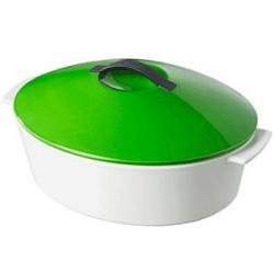 Утятница с зеленой крышкой 4.2л, L=32.5см