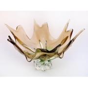 Салатник прозр+зелен+коричнев