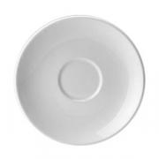 Блюдце «Лиф»; фарфор; D=15см; белый