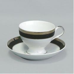 Набор чашек с блюдцем «Президент» 135 мм на 6 персон 12 предметов