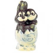 Форма для шоколада «Кролик и утка в яйце», поликарбонат, L=22.8,B=11см