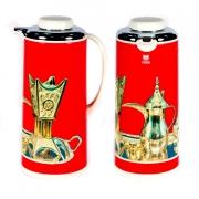 Термос метал. 1,3 л. со стеклянной колбой «Арабские мотивы» красный, Tiger