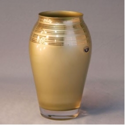 Ваза 21,5 см; «Золотая лента» золотая, матовая