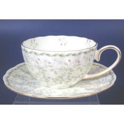 Н 1050011 Джулия ГРИН 2 н-р 250мл чашек чайных с блюдцем 6/12 (зол.лента)