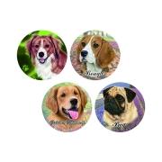 Набор из 4-х керамических подставок Собаки