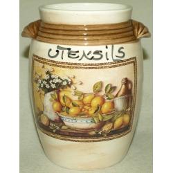 Керамическая подставка под кухонные инструменты «Лимоны»