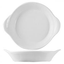Сковорода порц. «Кунстверк», фарфор, 250мл, D=190,H=21,L=190мм, белый