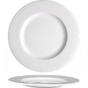 Тарелка мелкая «Уиллоу» D=20см; белый