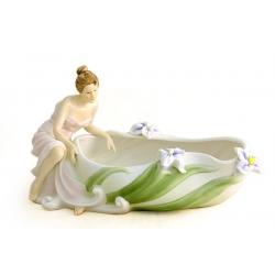 Блюдо декоративное «Ирисы» 16х31 см