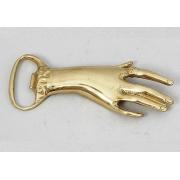 Открывашка - рука цвет - золото 13х5см