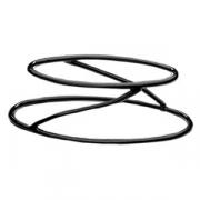 Подставка овал.; металл,резина; H=10.8,L=35.5,B=28.2см