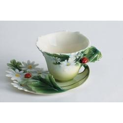 Чашка с блюдцем «Божья коровка» чашка -100 мл