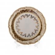 Набор тарелок «Лист бежевый» 17 см. 6 шт.