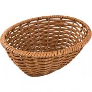 Корзина плетен. для хлеба овал. H=8, L=23, B=18.5см; коричнев.