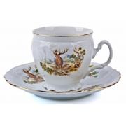 Набор для чая высокие на 6 перс. 12 пред «Бернадот Охота»