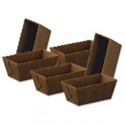 Форма конд. [75шт]; картон; H=40,L=100,B=55мм; коричнев.