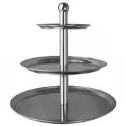 Этажерка 3-х ярусная для десерта «Проотель» d=30,40,50см, сталь, H=51см, металлич.