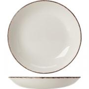 Салатник «Браун дэппл» D=13см; белый, коричнев.