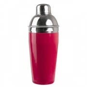 Шейкер «Проотель», нерж.,винил, 500мл, D=77,H=204мм, красный,металлич.