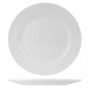 Тарелка мелкая «Кунстверк», фарфор, D=255,H=25мм, белый