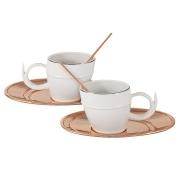 Чайный набор на 2 персоны Ричоло с отделкой под розовое золото