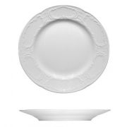 Тарелка мелкая «Моцарт», фарфор, D=19см, белый
