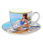 Чашка с блюдцем У моря в подарочной упаковке