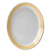 Блюдо овальное «Рио Еллоу», фарфор, L=30.5см, белый,желт.