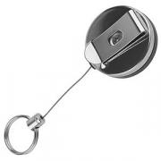 Крепеж для ключей на ремень; шнур-65см; сталь нерж.; D=4,H=2см