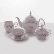 Сервиз чайный на 6 перс. 15 пред «Роза серая платина 5396021»
