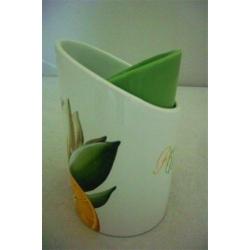 Подставка для кухонных инструментов «Апельсины и кувшинки»