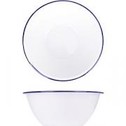 Салатник эмалиров. D=17, H=6.5см; белый, синий