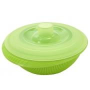Контейнер 2,2 л для фруктов с крышкой силиконовый зеленый