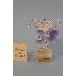 Бонсай с хризантемой лиловый, 15см.