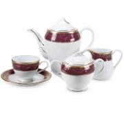 Сервиз чайный 12 перс 41 пр красный