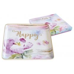 Тарелка квадратная Любовь в подарочной упаковке