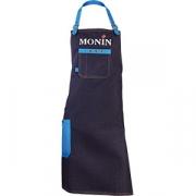 Фартук «Монин» джинс, кожа; синий