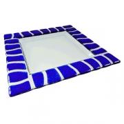 Тарелка «Сафари», стекло, L=25,B=25см, прозр.,голуб.
