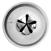 Насадка кондит. «Клематис», сталь нерж., D=22,H=29мм, металлич.