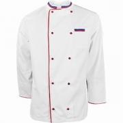 Куртка двубортная с окант. 60разм. «Триколор» твил; белый, красный
