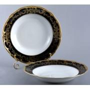 Набор глубоких тарелок 24 см. 6 шт «Ювел синий»