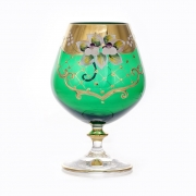 Набор бокалов 400мл.6шт «Лепка зеленая»