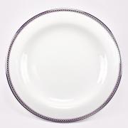Набор 6 тарелок 19см «Серебрянная вышивка»