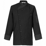 Куртка поварская р.XL на кнопках, полиэстер,хлопок, черный,белый