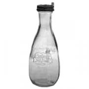 Бутылка с крышкой без трубочки стекло; 570мл; прозр.