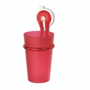 Стакан для зубных щеток LOOP Koziol 80 х 72 х 175мм (прозрачный красный )