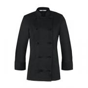 Куртка поварская женская 44разм., полиэстер,хлопок, черный