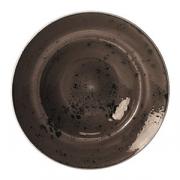 Тарелка для пасты «Крафт», фарфор, D=270,H=5мм, серый