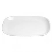 Блюдо прямоугольное банкетное «Магнум», фарфор, H=50,L=575,B=400мм, белый