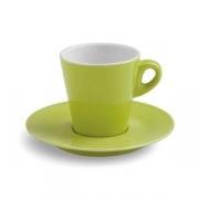 Чашка чайн.с блюдцем; фарфор; 200мл; зелен.